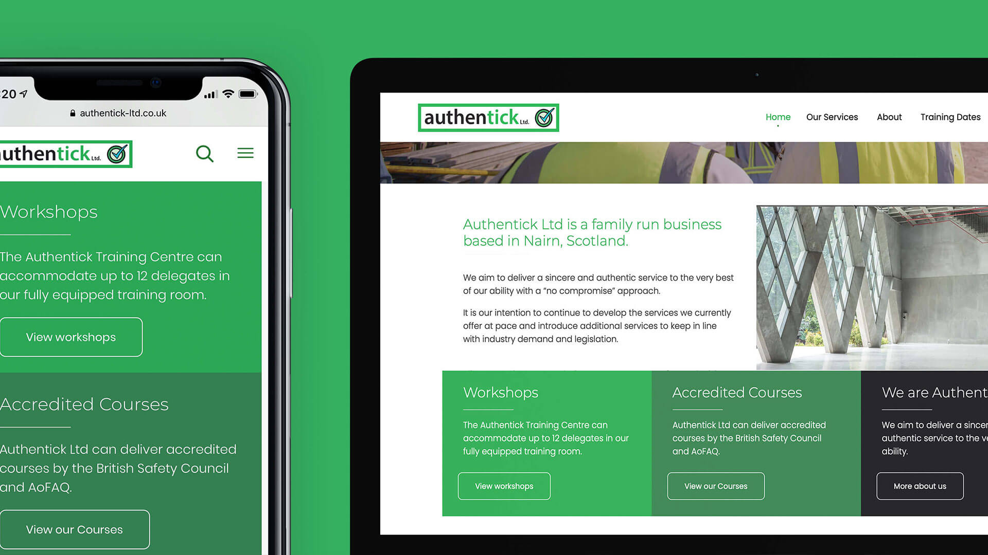 Web Refresh for Safety Training Company