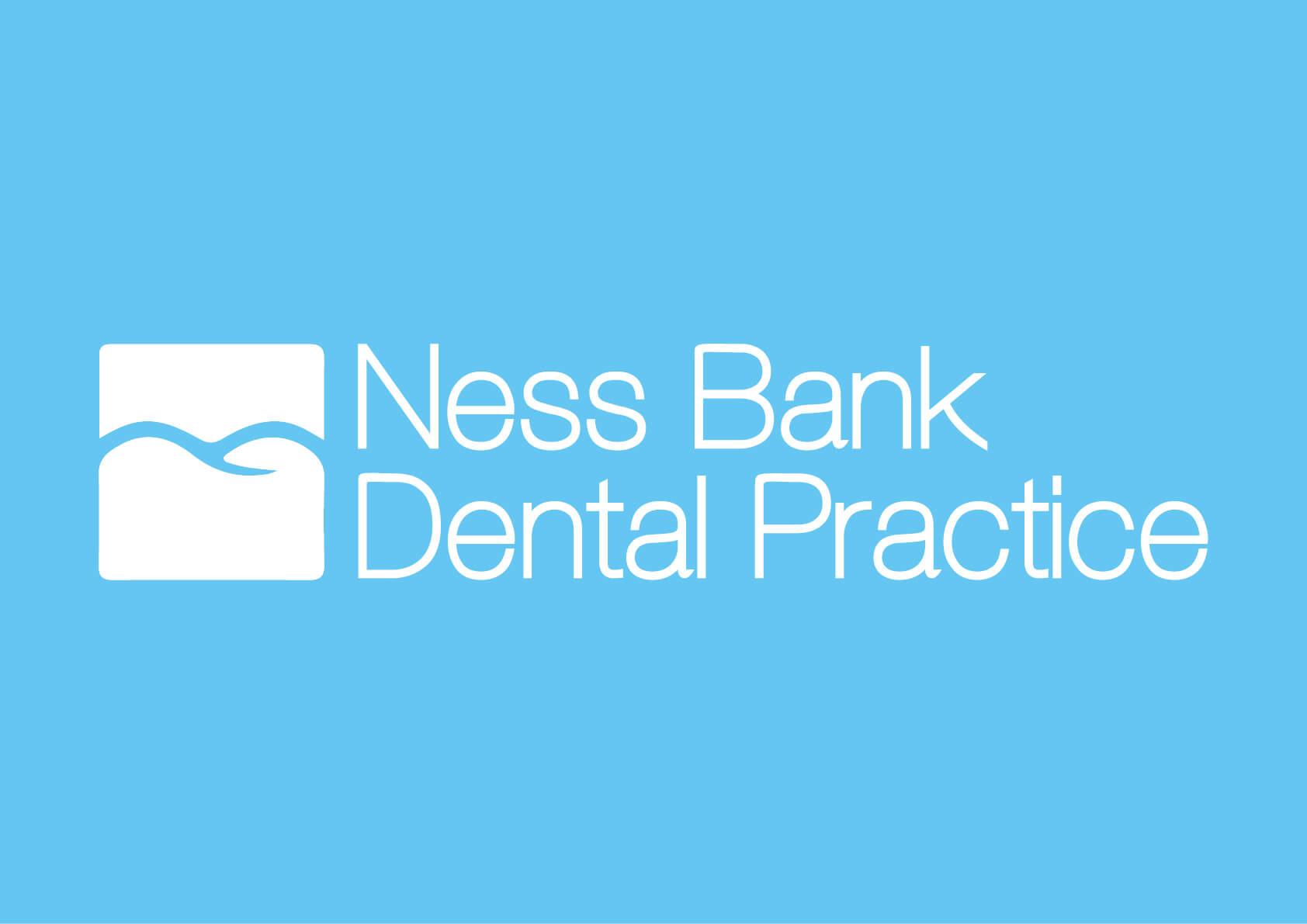 Nessbank Logo on Blue Background
