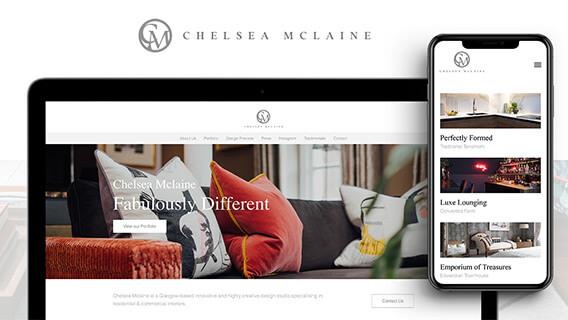 Elegant portfolio for Interior decorator