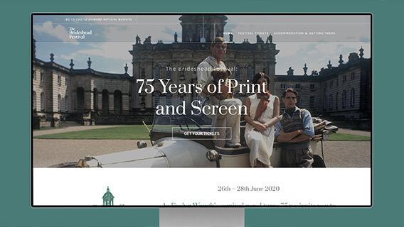 Landing page for film festival